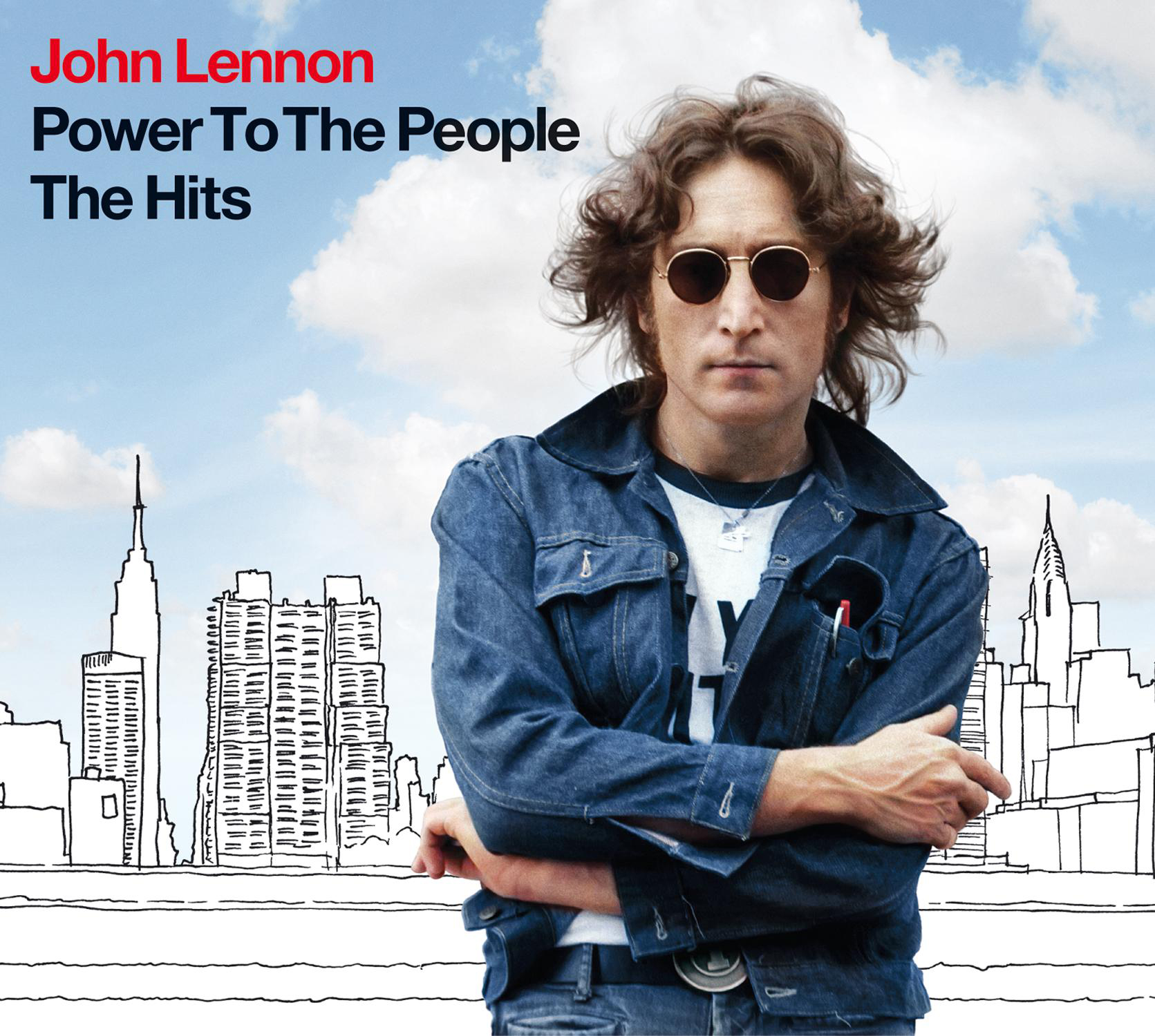 Cd cover john lennon power to the people the hits