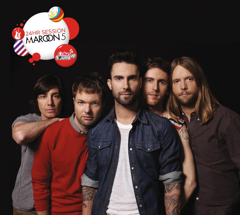 Maroon 5 Coke SOund Up Promotional Picture