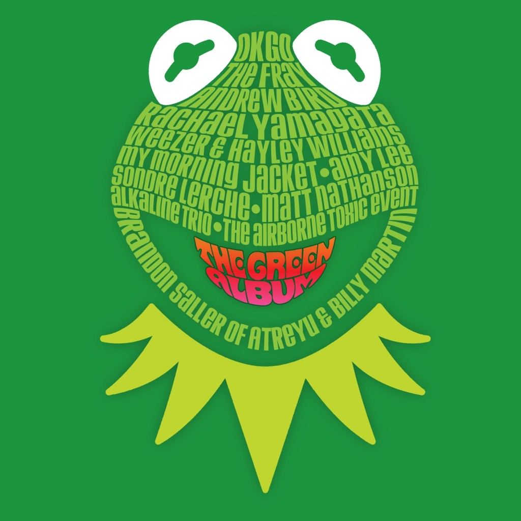The Muppets Green Album CD Cover Kermit